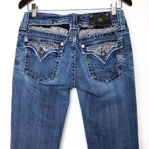 Miss Me Metal Beads Wings Bootcut Jeans JP5010BTA